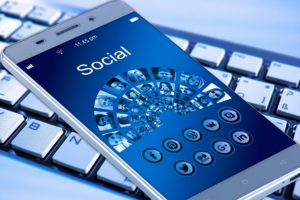 Social media on a mobile phone