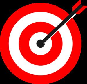 Hitting a bulls eye on a target