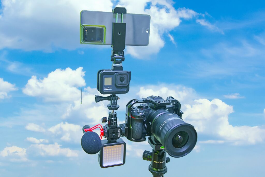 A vlogging camera kit
