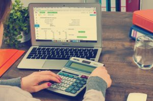 Bookkeeping with a laptop