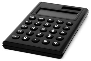 A close up shot of a calculator