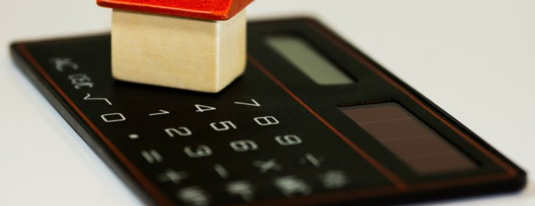 A house and mortgage concept