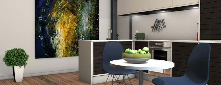 A modern apartment interior design