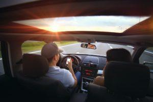 Driving a convertible car