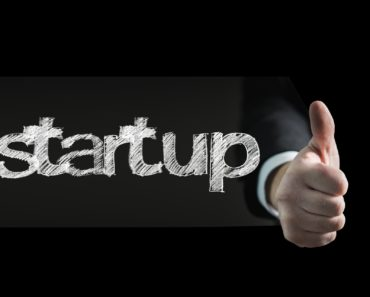 Startup concept with thumbs up