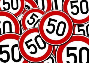 50 mph traffic signs