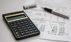 Using a calculator to help with finances