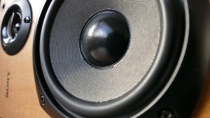 A loudspeaker in closeup