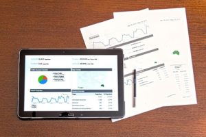 Performing data analysis on a tablet