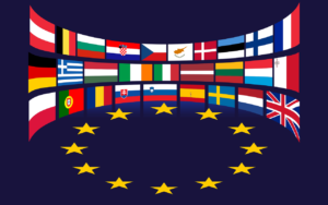 European Union flags
