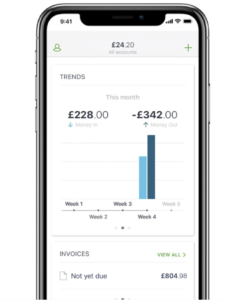 Sage business accounting mobile app screenshot