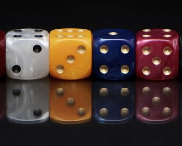 Six gambling dice