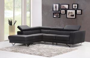 A stylish sofa in a modern living room