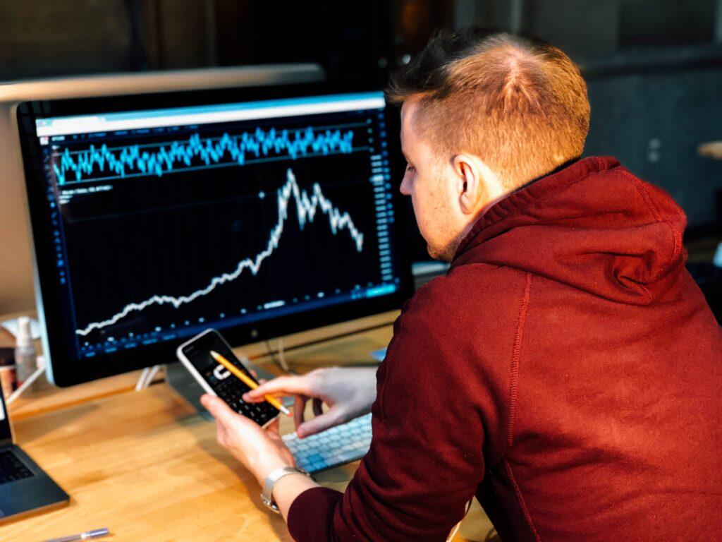 Watching a trading screen