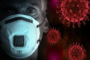 A Covid-19 virus concept