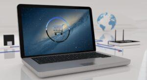 An ecommerce website on a laptop