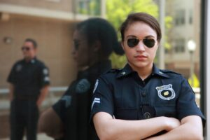 A female police officer