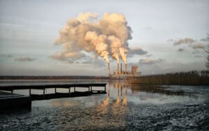 Industrial pollution near an estuary