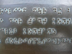 A braille sign