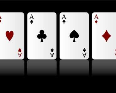 Playing cards - four aces