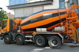 A concrete mixer