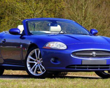 A blue convertible auto