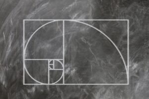 A Fibonacci spiral