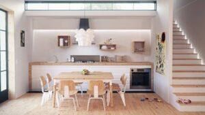 A modern kitchen design