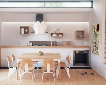 A modern kitchen design