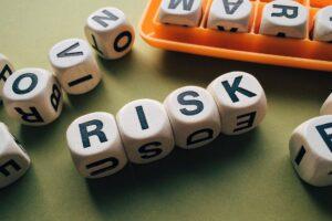 Risk spelt in letters