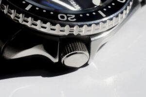 A closeup of a Seiko watch