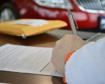 Signing a finance contract