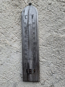 Using Google Lens to identify an old thermometer