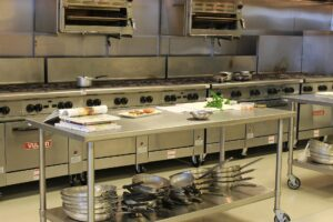 A commercial kitchen