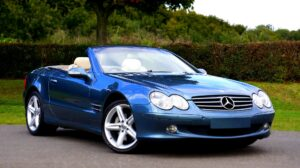 A Mercedes luxury car