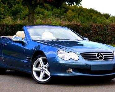 A Mercedes luxury car