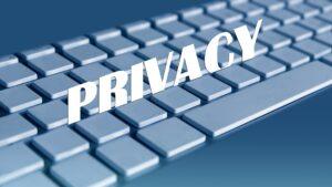 A computer privacy concept