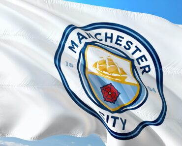 A Manchester City football club flag