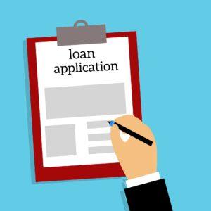 A loan application image