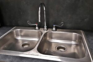 A metal sink
