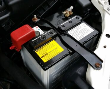 A battery installed in an engine compartment