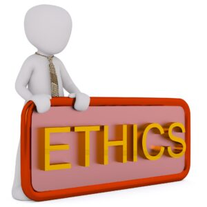 "An image saying ""Ethics"""