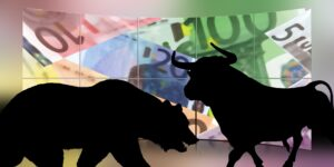 Stock exchange and forex bulls and bears