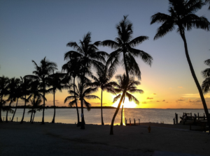 A sunset in Key Largo, Florida