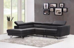 A modern L-shaped sofa