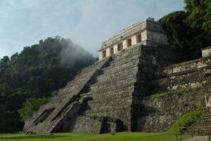 A Mayan ruin in Mexico