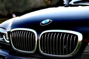 The bonnet of a BMW executive car
