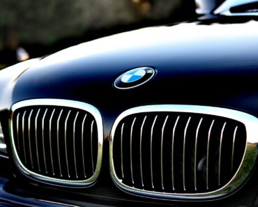 The bonnet of a BMW executive car