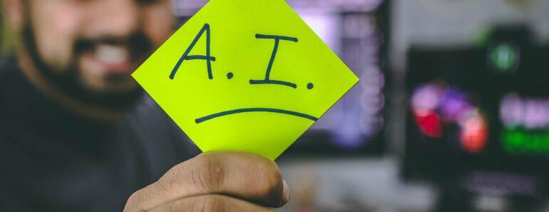 AI written on a post it note