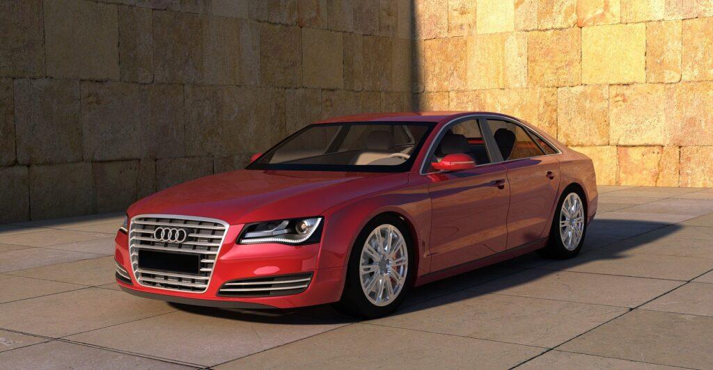 An Audi executive car
